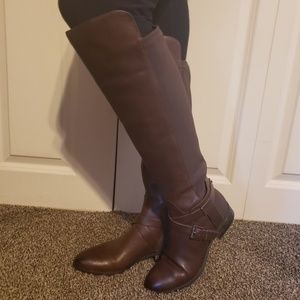 Vince Camuto Brown Knee High Paton Boots